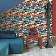 Muriva Tapete Foto Collage Muster Tapete USA