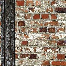 Muriva Tapete Loft Ziegelsteine Und Balken