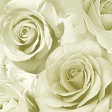 Muriva Tapete Madison Rose Blüte Blume Wandtapete Designer 10 Meter Rolle Kunst Grün 119501