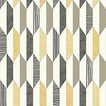 Muriva Tapete Marcus Geo Tapete -, gelb, J20502