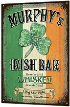 Murphys Irish Bar Large Tin Sign Metal Rustic Bar Luck Beer Pub Plaque Retro Blechschilder