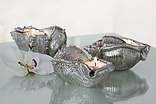 Muschel Leuchter Seashell 3er Set Badezimmer