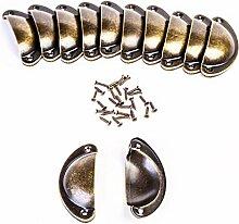 Muschelgriff Schubladen Griffe Bronze Schrank
