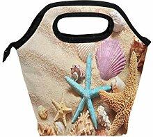 Muscheln Seestern am Sand Lunchbox Handtasche für