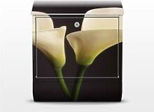 Muse Calla 39x46x13cm Briefkasten, Briefkästen, Design, Edelstahl, Brief Kasten, Brief Kästen, Calla, Blumen, Pflanzen, Blüten, Natur, Briefkasten, Standbriefkasten