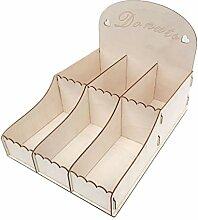 Museourstyty Gastgeschenk-Box aus Holz, 6 Fächer,