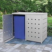 MUSEVANE Mülltonnenbox mülltonne für 2 Tonnen