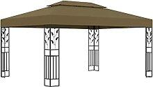 MUSEVANE Pavillon mit Doppeldach 3x4 m Taupe 180