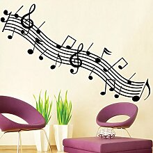 Music Notes Symbol Wand Aufkleber PVC Home
