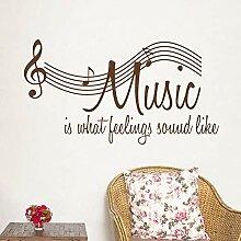 Musik Englisch notizen Wandaufkleber für