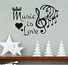 Musik ist Liebe Crown Note Tapete Aufkleber für