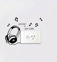 Musik Ist Mein Leben Vinyl Schalter Aufkleber