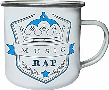 Musik Rap Krone Retro, Zinn, Emaille 10oz/280ml