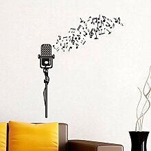 Musikalisches Mikrofon Wandkunst Aufkleber Vinyl