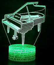Musikinstrument Klavier Thema 3D Lampe LED