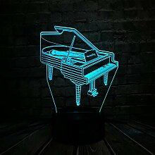 Musikinstrument Retro Klavier 3D USB LED Lampe 7