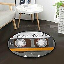 Musikkassette Runder Teppich für Wohnzimmer