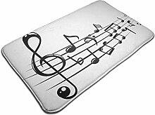 Musiknoten mit Linien Rutschfester Teppich