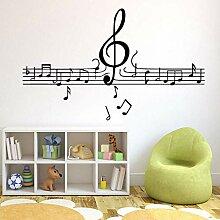 Musiknoten Tapete Dekoration Wandaufkleber für