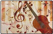 Musiknoten Violine Instrument Bodenmatte Teppiche