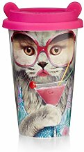 Mustard Coffee Cat Cup I Kaffee-to-Go Becher mit