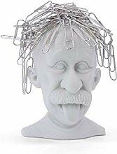 MUSTARD - Genius Paperclip Holder I Geniekopf für