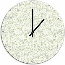 Muster Kreise, Wanduhr Durchmesser 48cm mit schwarzen spitzen Zeigern und Ziffernblatt, Dekoartikel, Designuhr, Aluverbund sehr schön für Wohnzimmer, Kinderzimmer, Arbeitszimmer