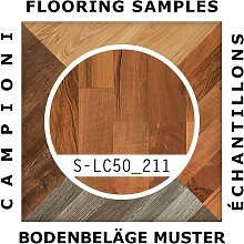 MUSTER LC50 211 | Meister Klick Laminat 3-Stab Nussbaum Schiffsboden - Mustergröße ca. 18 x 20 cm