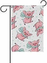 Muster mit süßen Schweinen doppelseitige