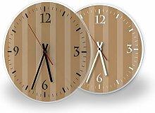 Muster Tapete - Moderne Wanduhr mit Fotodruck auf Polycarbonat | Fotouhr Bilderuhr Motivuhr Küchenuhr modern hochwertig Quarz | Variante:30 cm rund mit schwarzen Zeigern