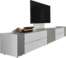 Musterring TV-ELEMENT Grau, Weiß , Glas,