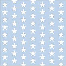 Mustertapete für Kinderzimmer - Sterne Blau