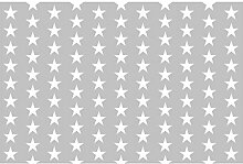 Mustertapete für Kinderzimmer - Weiße Sterne auf