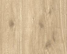 Mustertapeten - A.S. Création Holzoptik Tapete Best of Wood`n Stone Beige, Braun