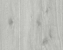Mustertapeten - A.S. Création Holzoptik Tapete Best of Wood`n Stone Grau