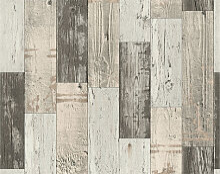 Mustertapeten - A.S. Création Holzoptik Tapete Faro 4 Beige, Braun, Schwarz