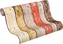 Mustertapeten - A.S. Création holzoptik Tapete New England Beige, Braun, Rot