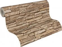 Mustertapeten - A.S. Création steinoptik Tapete Dekora Natur 6 Beigebraun, Sepiabraun, Perlweiß