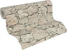 Mustertapeten - A.S. Création steinoptik Tapete Dekora Natur 6 Schwarzgrau, Perlweiß, Braunbeige
