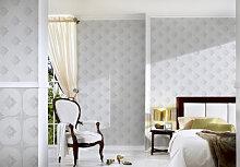Mustertapeten - Architects Paper Mustertapete Textiltapete Tessuto 2 Grau, Weiß