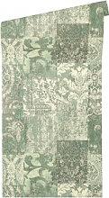 Mustertapeten - Architects Paper Tapete Luxury Classics creme, grün, metallic