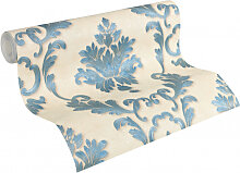 Mustertapeten - Architects Paper Tapete Luxury wallpaper blau, creme, metallic