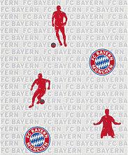 Mustertapeten - FC Bayern München Mustertapete