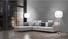 Mustertapeten - Livingwalls Tapete Titanium grau, metallic