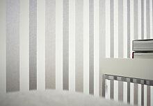 Mustertapeten - Mustertapete Architects Paper Tapete Stripe by Porsche Design Studio Grau, Metallic, Weiß