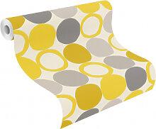 Mustertapeten - Rasch Tapete HotSpot modern Gelb,