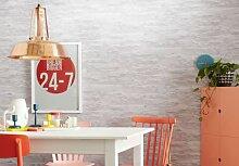 Mustertapeten - Schöner Wohnen steinoptik Tapete Creme, Grau