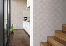 Mustertapeten - Schöner Wohnen steinoptik Tapete Seidengrau, Signalweiß