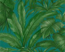 Mustertapeten - Versace Home Mustertapete Tapete Giungla Blau, Grün
