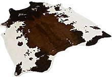 Musthome Weicher Kuhfell-Teppich für Wohnzimmer,
